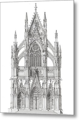 North Portal Cologne Cathedral Germany Metal Print by John Simlett