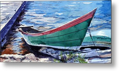 North Shore Fishing Skiff Metal Print by Spencer Meagher