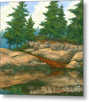 Metal Print featuring the painting North Shore by Michael Swanson
