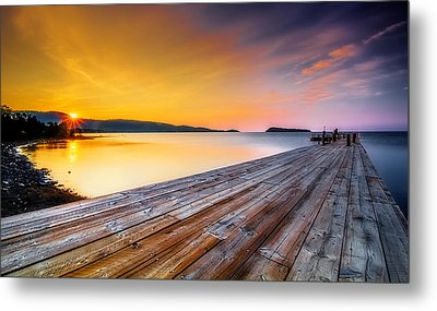 Metal Print featuring the photograph North Shore Sunrise Grand Portage Mn by RC Pics
