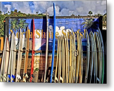 North Shore Surf Shop Metal Print by DJ Florek