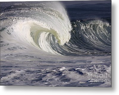 North Shore Wave Curl Metal Print by Vince Cavataio