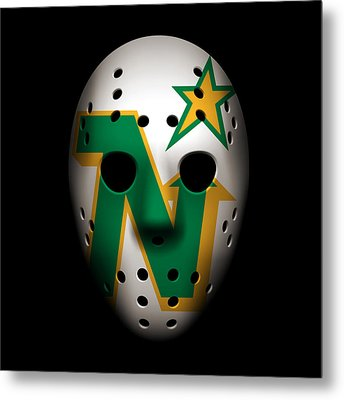 North Stars Goalie Mask Metal Print