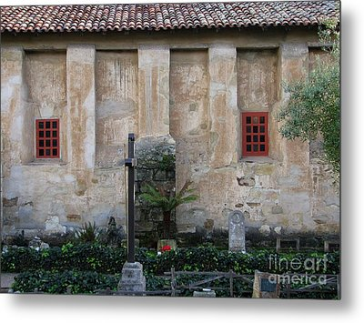 North Wall Of The Carmel Mission Metal Print