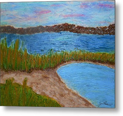 Metal Print featuring the painting North Wildwood   New Jersey by Joan Reese