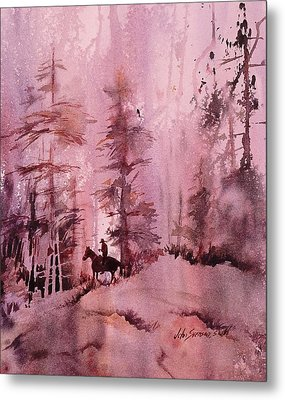 Metal Print featuring the painting North Woods by John  Svenson