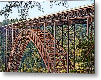 Northeast Close-up Of New River Gorge Bridge Metal Print by Timothy Connard