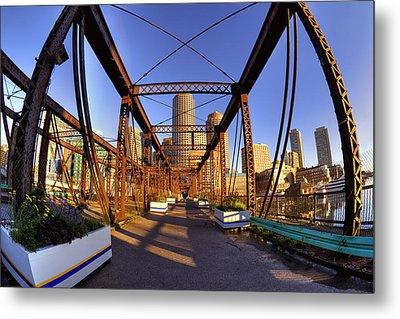 Northern Avenue Bridge Metal Print by Joann Vitali