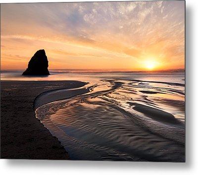 Northern California Coast Sunset Metal Print by Leland D Howard