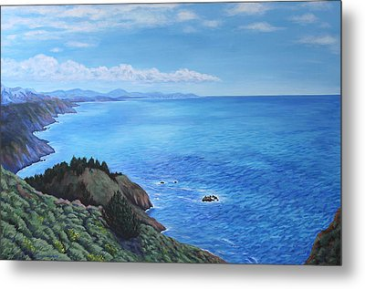 Northern California Coastline Metal Print by Penny Birch-Williams