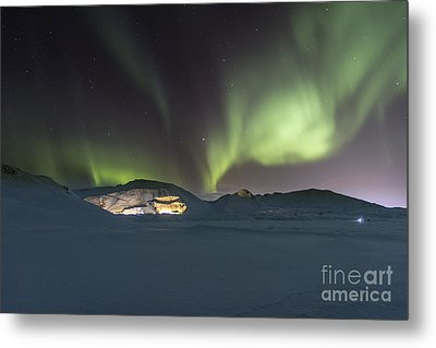 Northern Lights Iceland Metal Print