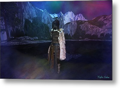 Northern Lights Metal Print by Kylie Sabra