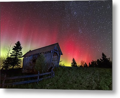 Northern Lights - Painted Sky Metal Print