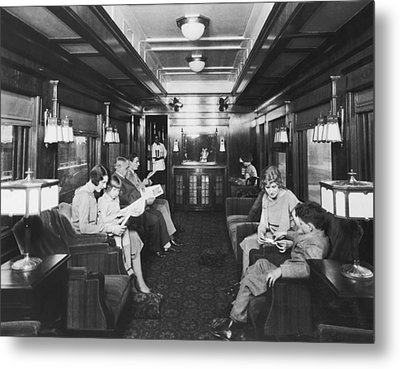 Northern Pacific Lounge Car Metal Print