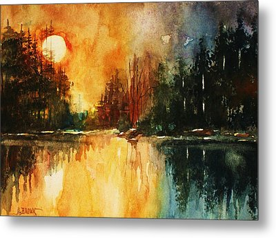 Northern Sunset Metal Print