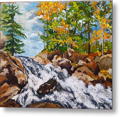 Northern Waterfall Metal Print by Diane Arlitt