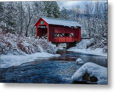 Northfield Vermont Covered Bridge Metal Print