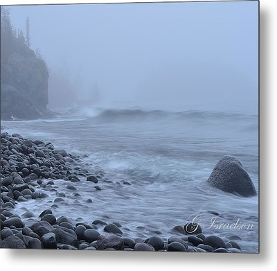Northshore Fog And Waves Metal Print by Gregory Israelson
