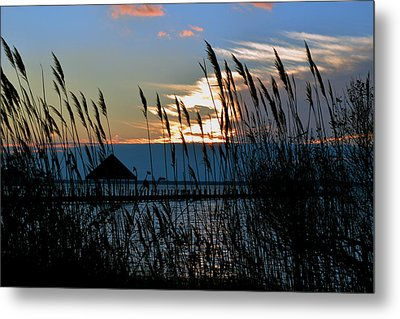Metal Print featuring the photograph Ocean City Sunset At Northside Park by Bill Swartwout