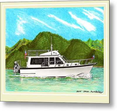 Northwest Trawler Yacht Metal Print by Jack Pumphrey