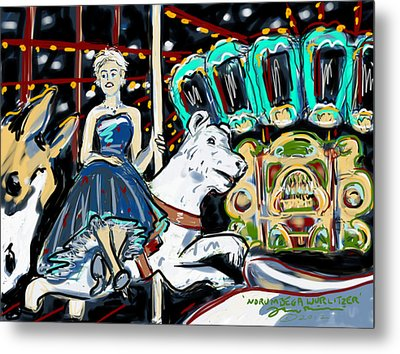 Metal Print featuring the painting Norumbega Wurlitzer by Jean Pacheco Ravinski