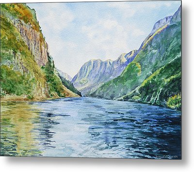 Norway Fjord Metal Print