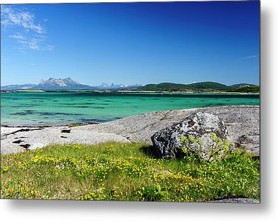 Norway Glacially Polished Rock Slabs Metal Print by Fredrik Norrsell