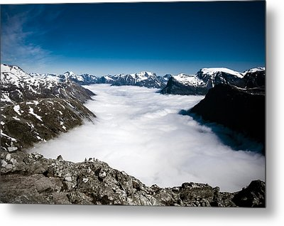 Norway In The Clouds Metal Print