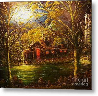 Norwegian Evening Glow- Original Sold - Buy Giclee Print Nr 31 Of Limited Edition Of 40 Prints  Metal Print