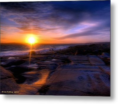 Norwegian Sunset Metal Print by Bruce Nutting