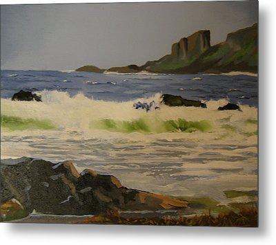 Norwick Beach Shetland Isles Metal Print