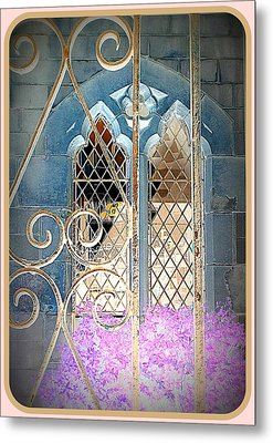 Nostalgic Church Window Metal Print by The Creative Minds Art and Photography