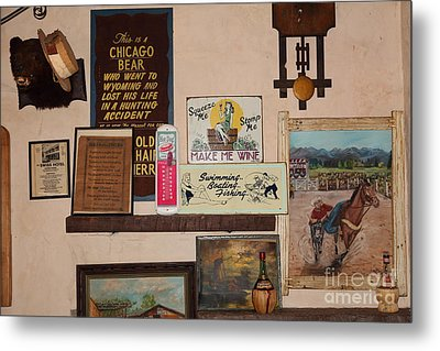 Nostalgic Wall In The Cellar Room At The Swiss Hotel In Sonoma California 5d24444 Metal Print by Wingsdomain Art and Photography