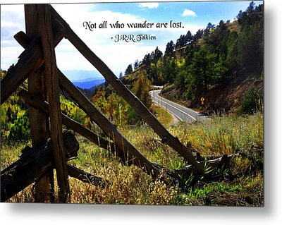 Not All Who Wander Metal Print by Mike Flynn