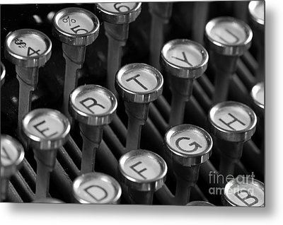 Not My Type Metal Print by Denise Pohl