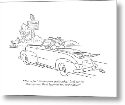 Not So Fast! Watch Where You're Going! Look Metal Print by Ned Hilton
