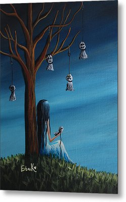 Not Such A Lonely Place After All Original Art Metal Print by Shawna Erback