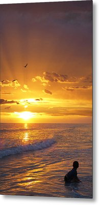 Not Yet - Sunset Art By Sharon Cummings Metal Print by Sharon Cummings