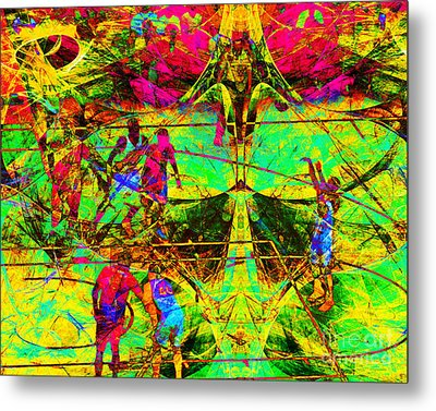 Nothing But Net The Free Throw 20150310 Metal Print by Wingsdomain Art and Photography
