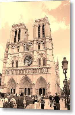 Metal Print featuring the photograph Notre Dame Cathedral by Cleaster Cotton