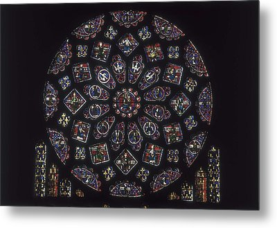 Notre-dame Cathedral Of Chartres Metal Print