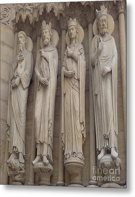 Metal Print featuring the photograph Notre Dame Cathedral Saints by Deborah Smolinske