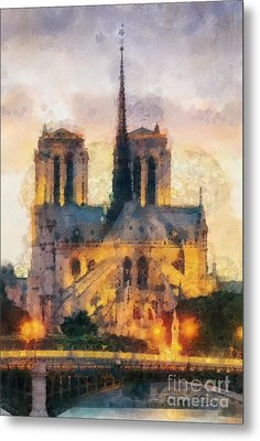 Notre Dame De Paris Metal Print by Mo T
