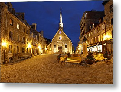 Notre Dame Des Victories And Place Royale Metal Print by Juergen Roth