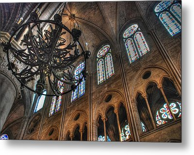Notre Dame Interior Metal Print by Jennifer Ancker