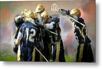 College Lacrosse Celebration  Metal Print