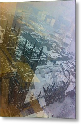 Notre Dame On The Vertical Metal Print