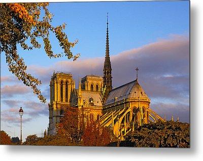 Notre Dame Sunrise Metal Print