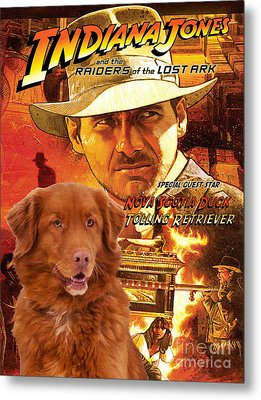 Nova Scotia Duck Tolling Retriever Art Canvas Print - Indiana Jones Movie Poster Metal Print by Sandra Sij