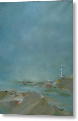 Metal Print featuring the painting Nova Scotia Fog by Judith Rhue